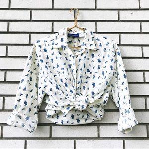 Vintage Southwestern Print Button Up Shirt